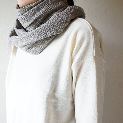 cotton wool diagonal stole