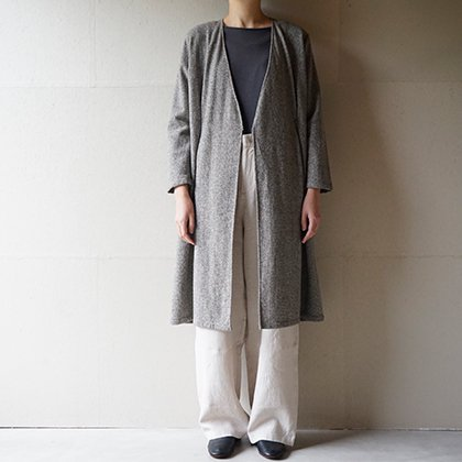 wool tuck robe