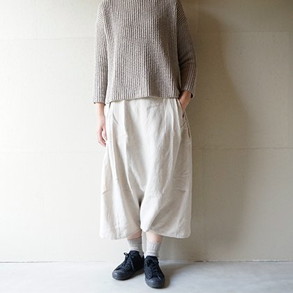 side tuck sarrouel pants