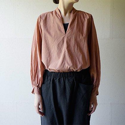 Beautiful Silk cotton v-necked shirt