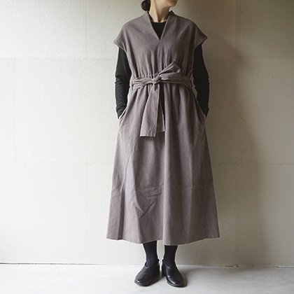 Beautiful Mud dyed wool v-necked dress
