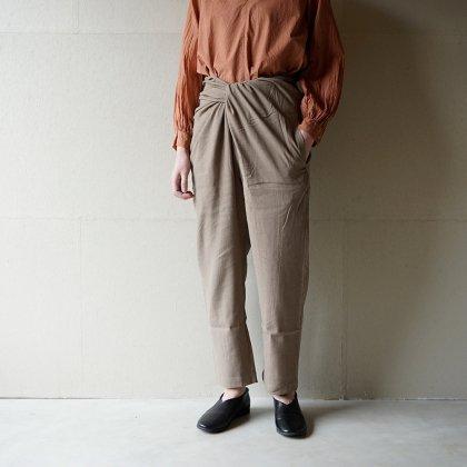 Silk&Linen wrapped pants
