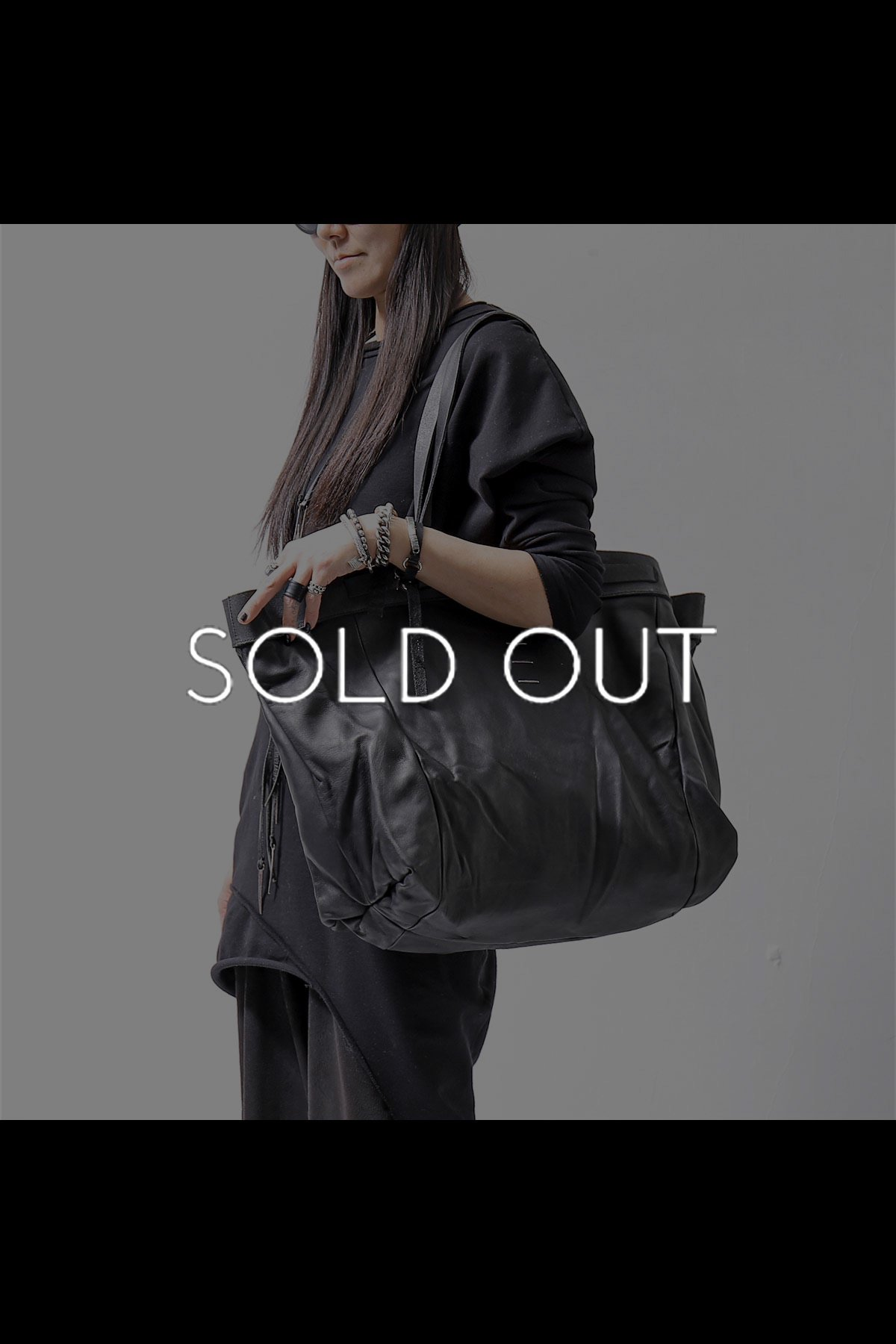LAMB LEATHER TOTE BAG DBJ003_BLACK