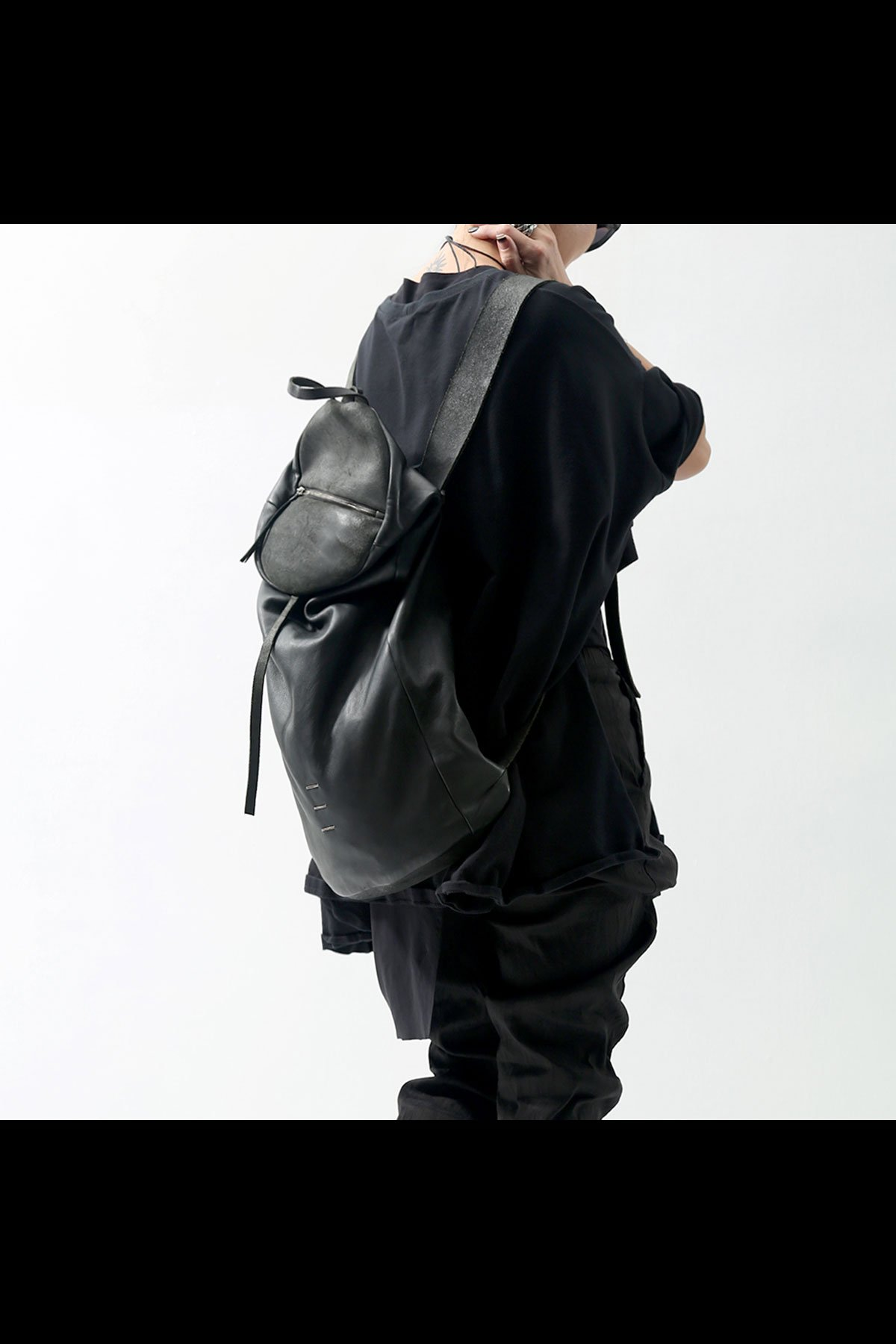 LAMB LEATHER BACKPACK DBJ004_BLACK