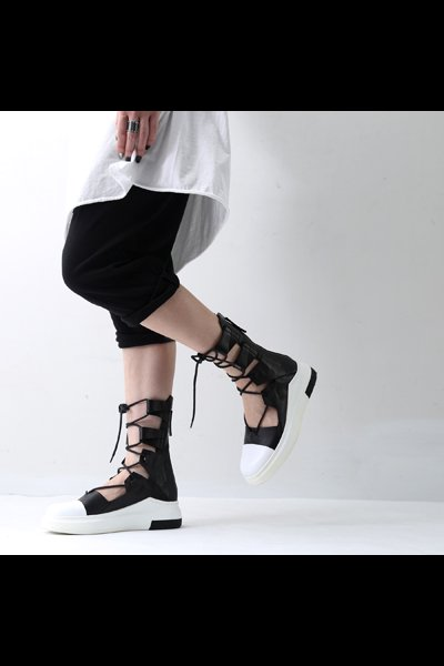 LEATHER LACE-UP SNEAKER CA234_310