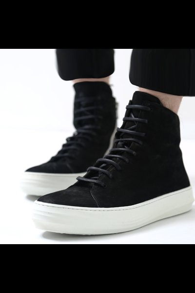 LACE-UP LEATHER SNEAKERS TLC1647_BLACK