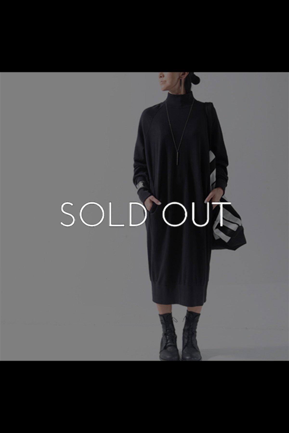 SWEAT LONG DRESS WSD1_BLACK