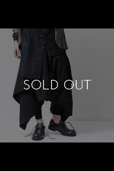 UNISEX WRAP PANTS PP52_BLACK