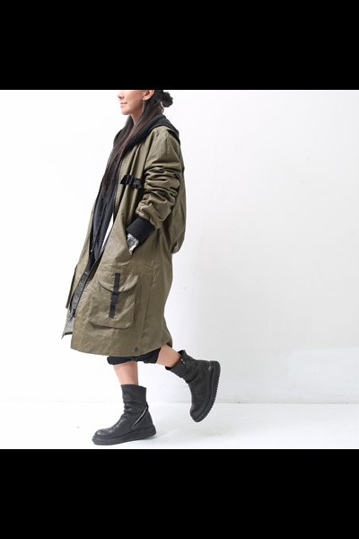LONG BLOUSON LIGHT COAT  J49