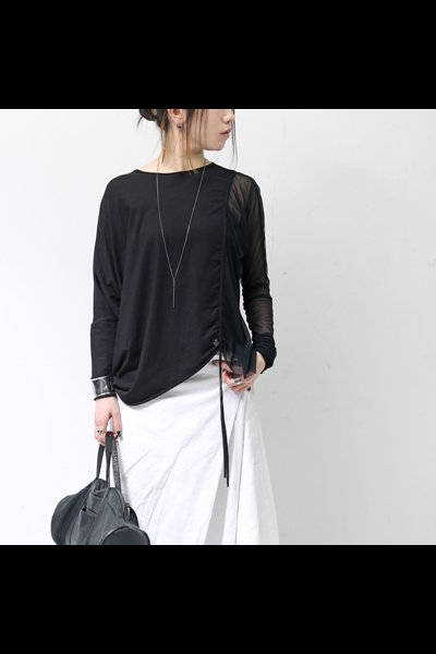 TULLE&COTTON TOP DTS017_BLACK