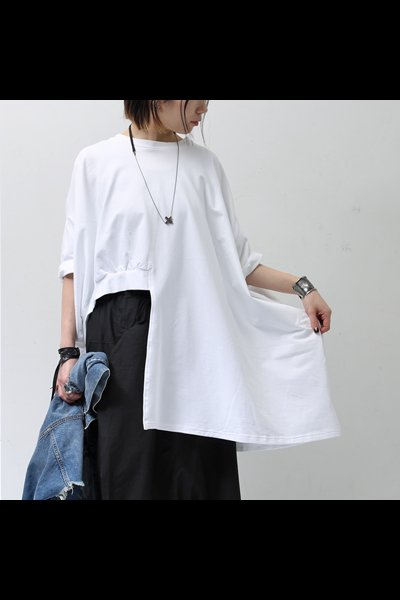 ASYMMETRY SWEAT TOP SX4B-N_WHITE