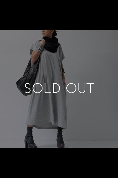 OVERSIZED COTTON DRESS S32CT0965_GREY