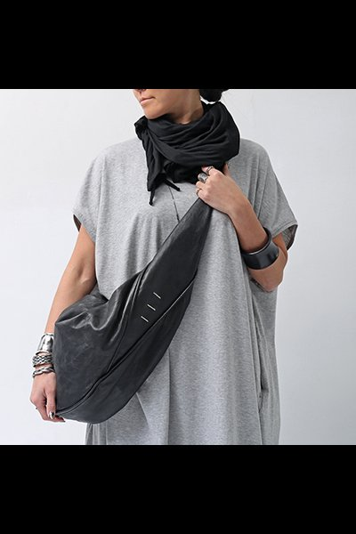 LAMB+BULL LEATHER SHOULDER DBJ012_BLACK