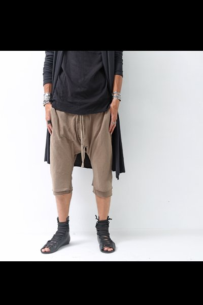 LAYERED LOW CROTCH PANTS MST92_DESERT