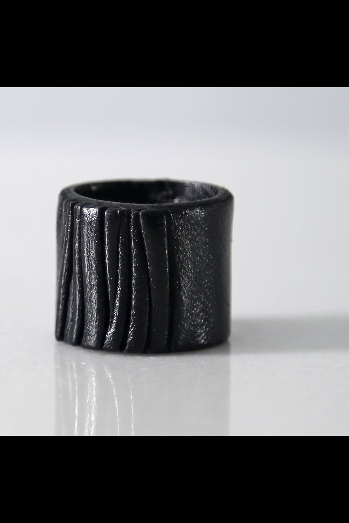 LEATHER RING ASE5_BLACK