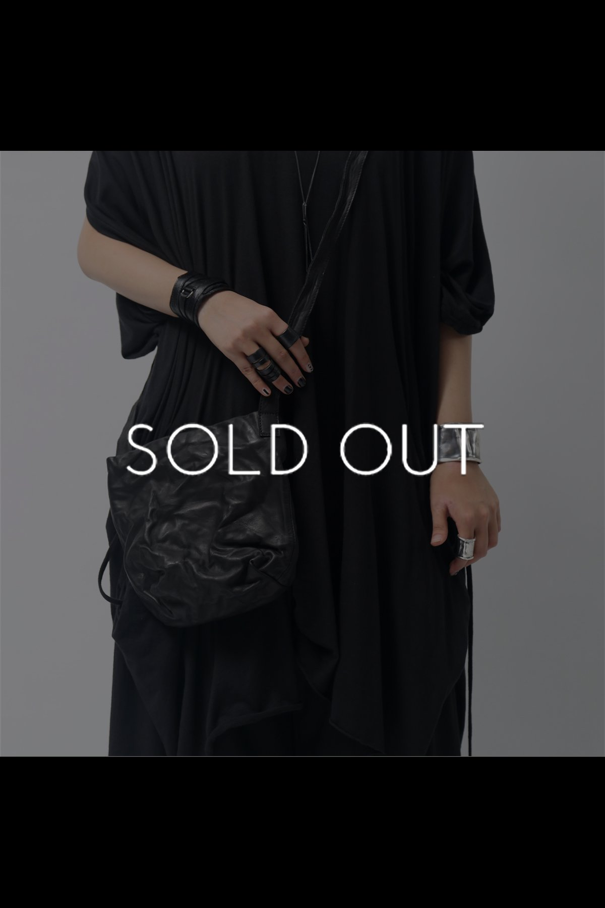 LEATHER SHOULDER BAG SEN1/4_BLACK