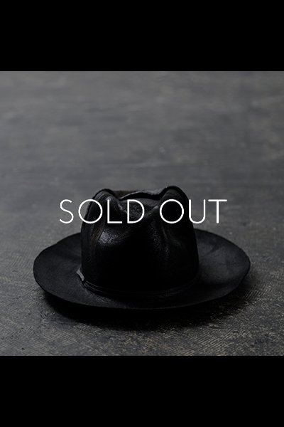 WAXED WOOL FELT HAT MOD2_BLACK