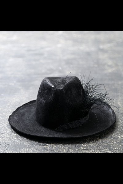 COATED FETHER HAT MOD16_BLACK
