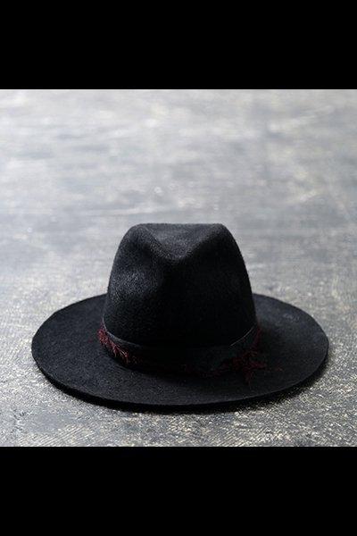FRINGE RIBBON HAT MOD33_BLACK