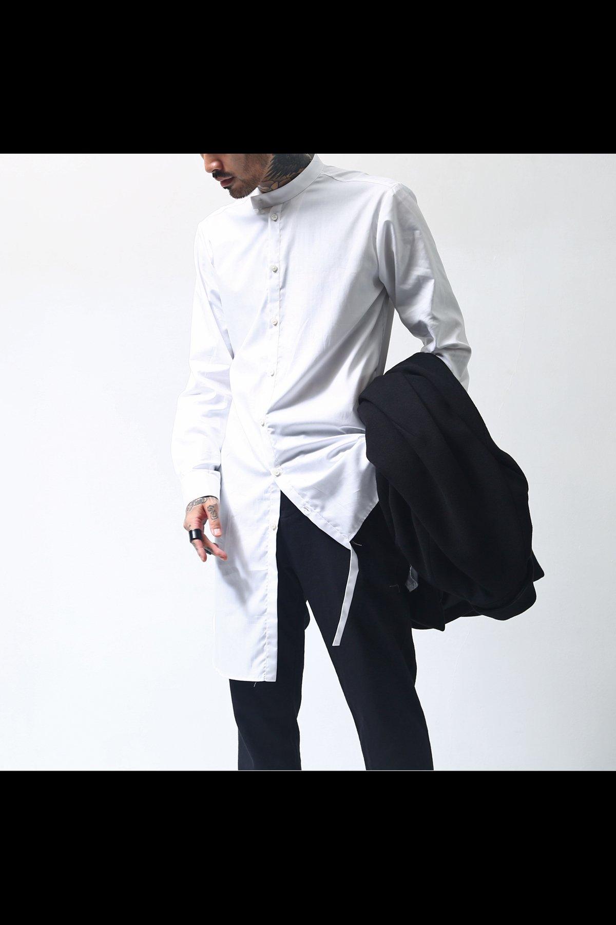 LONG ASYMMETRY SHIRT C50_WHITE