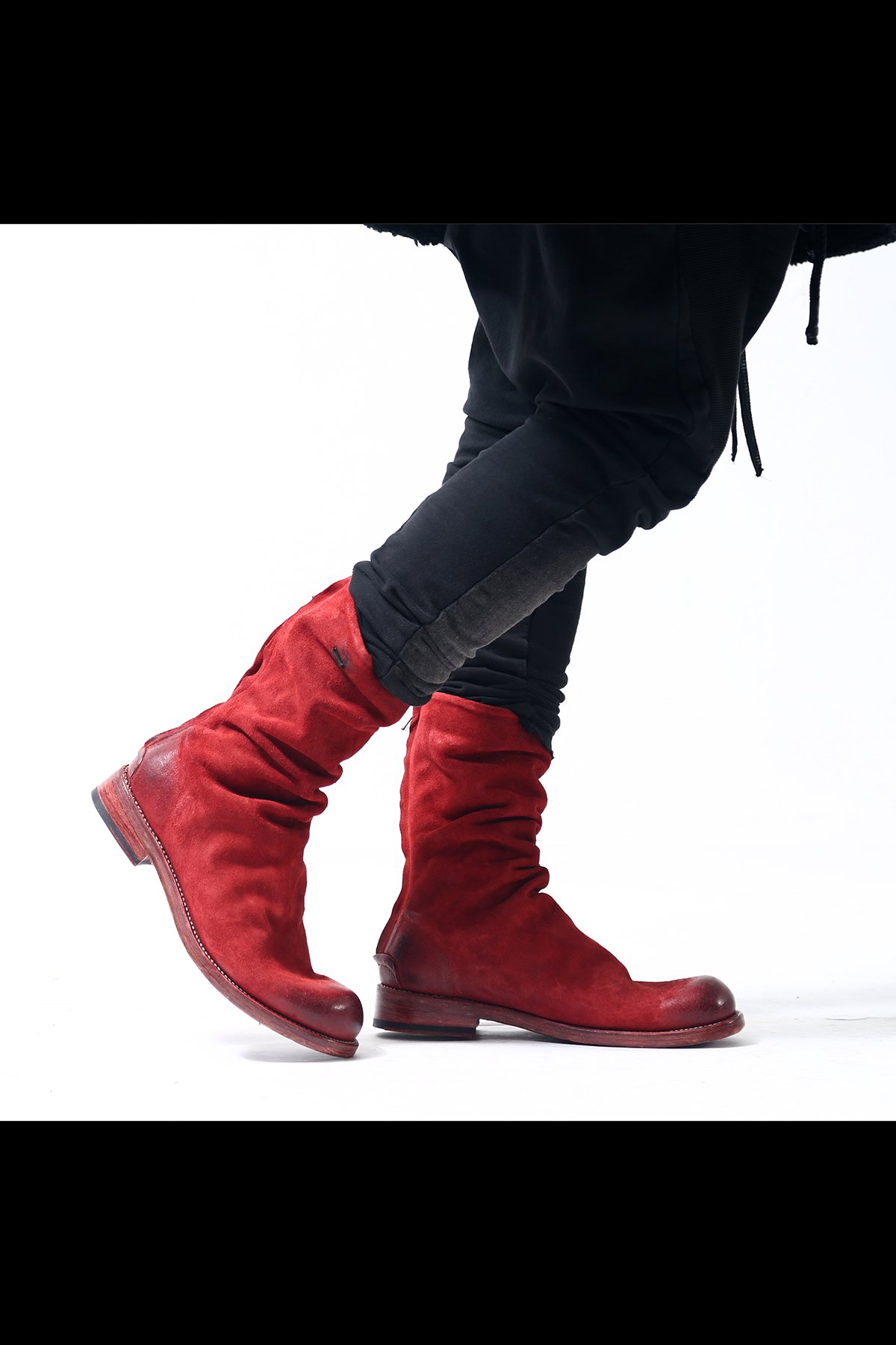 BACK ZIP BOOTS TLC2169_WAXED SUEDE OXBLOOD