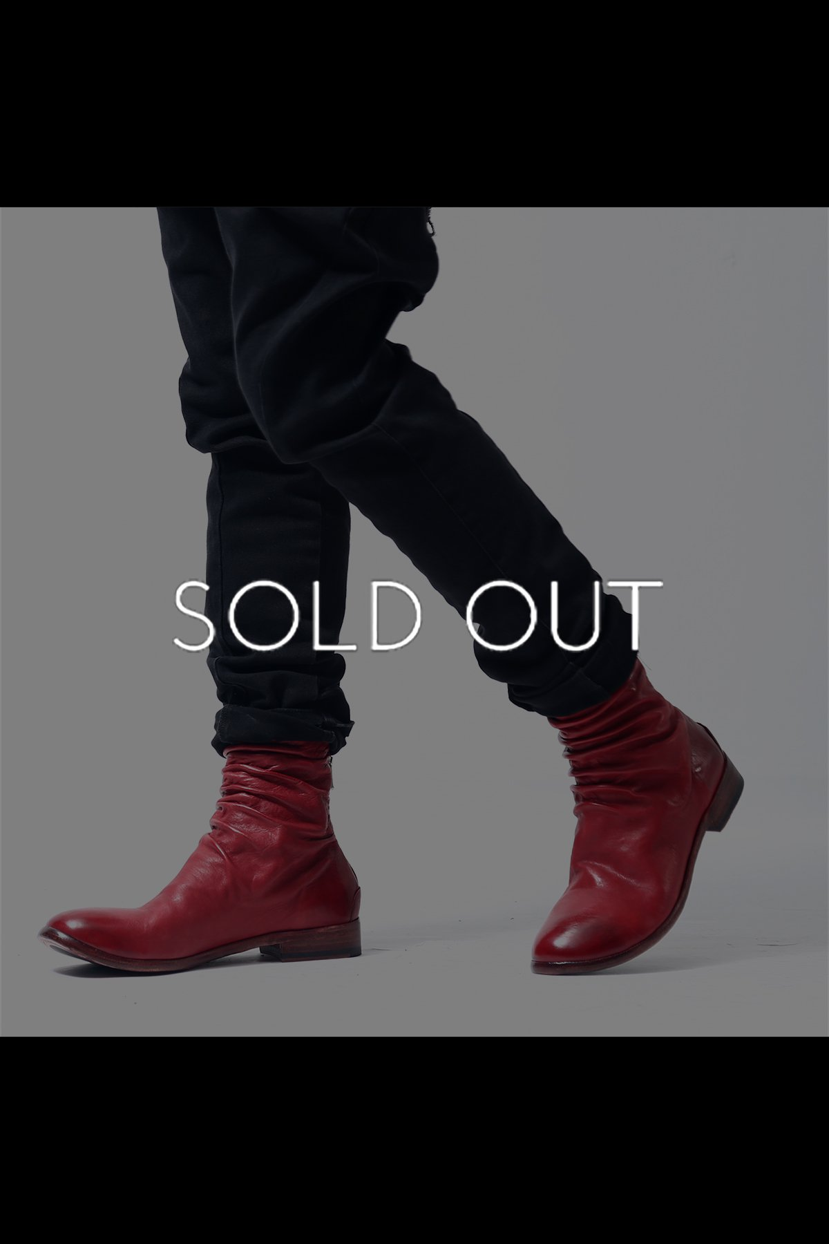 FRONT DREAP ZIP BOOTS TLC1930_SOFT OXBLOOD