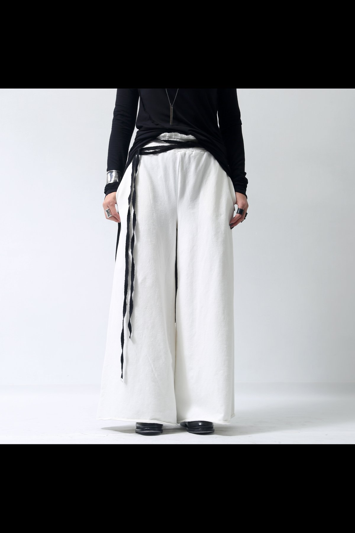 WIDE SWEAT PANTS  P58_WHITE