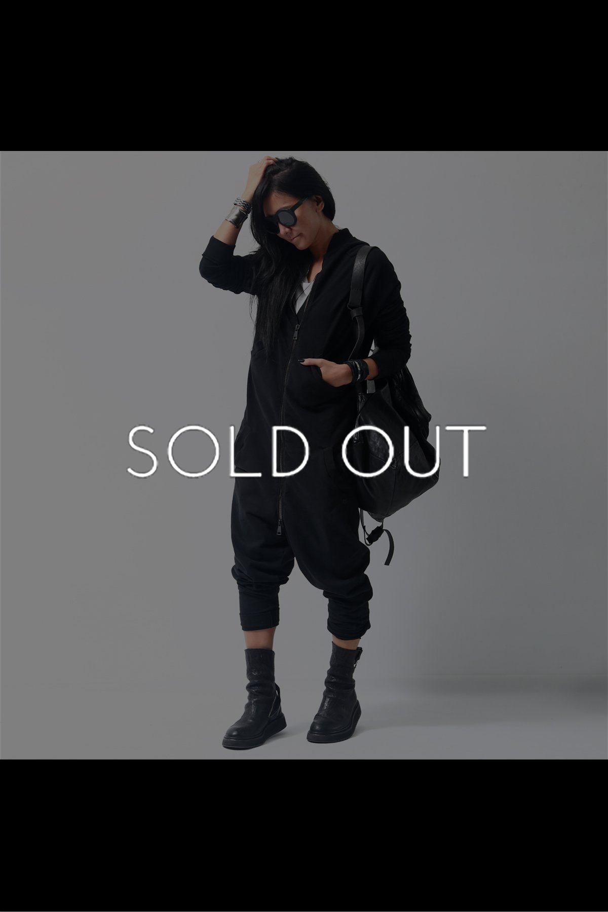 SWEAT UNISEX JUMPSUIT  P21_BLACK