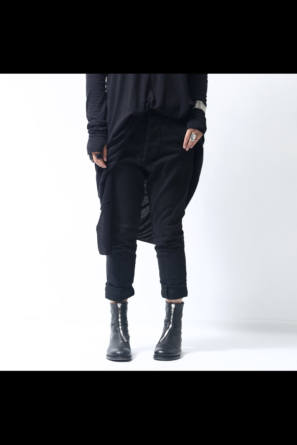 STRETCH DENIM PANTS P17_BLACK