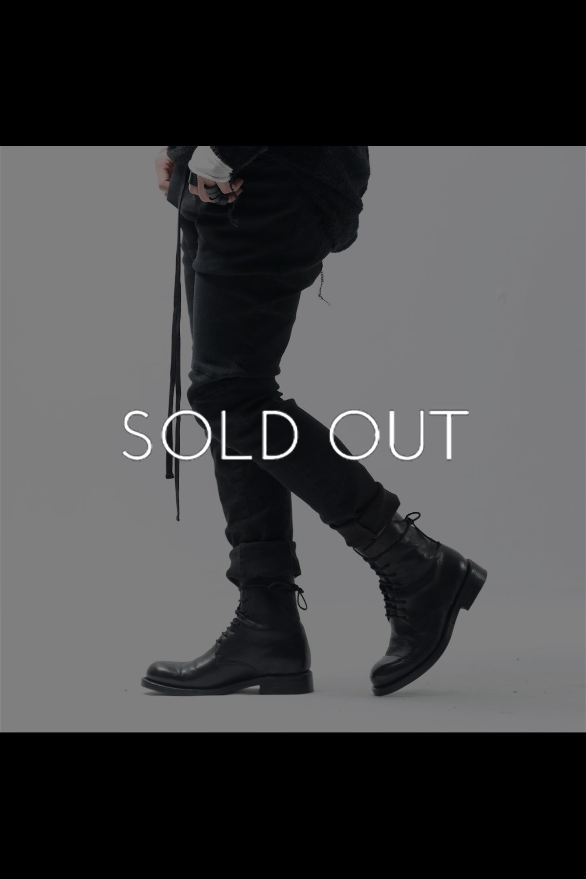 LACE UP LEATHER BOOTS TLC2369_BLACK