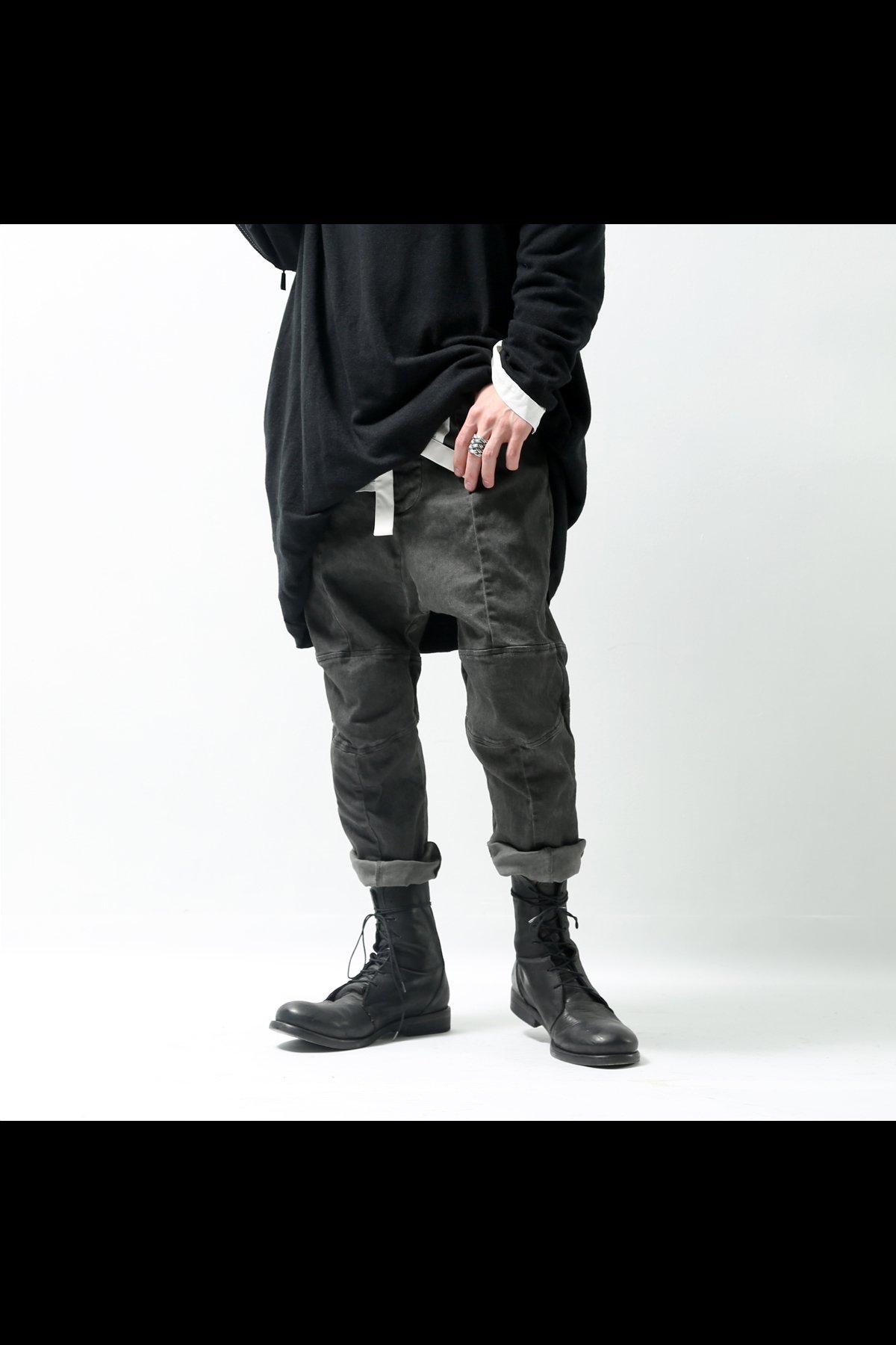 UNISEX STRETCH DENIM LOW CROTCH PANTS  DP16_BLACK