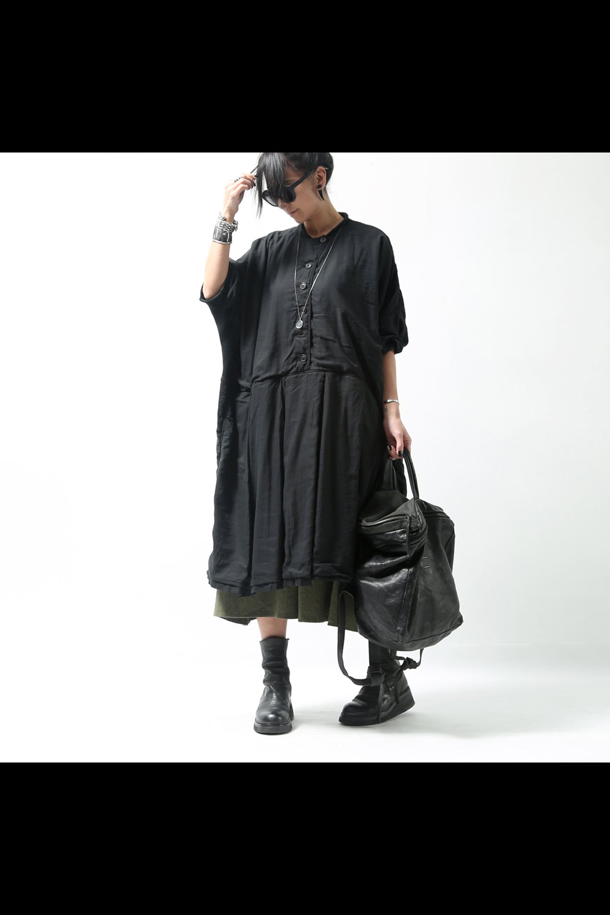 OVERSIZED DRESS 216 0908_BLACK