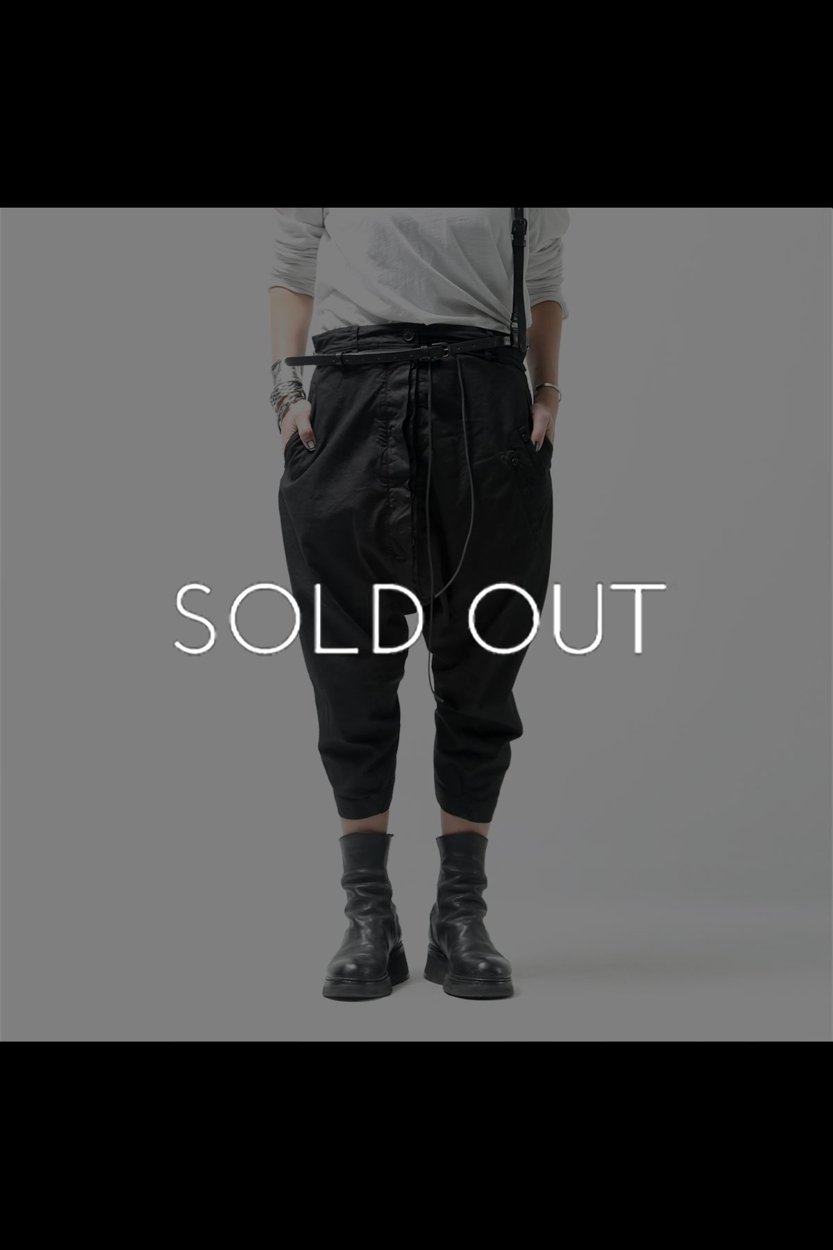 CROPPED LENGTH UNISEX PANTS 260 0111_BLACK