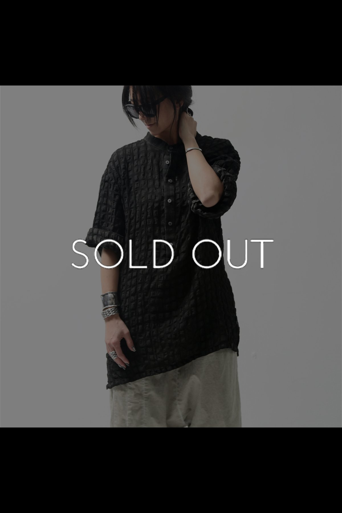 UNISEX CHECKERED SHIRT C13_BLACK
