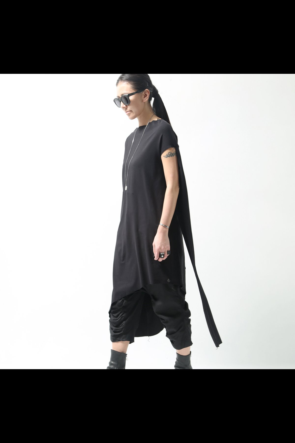 T2 WAY ASYMMETRY LONG TOP TS42_BLACK
