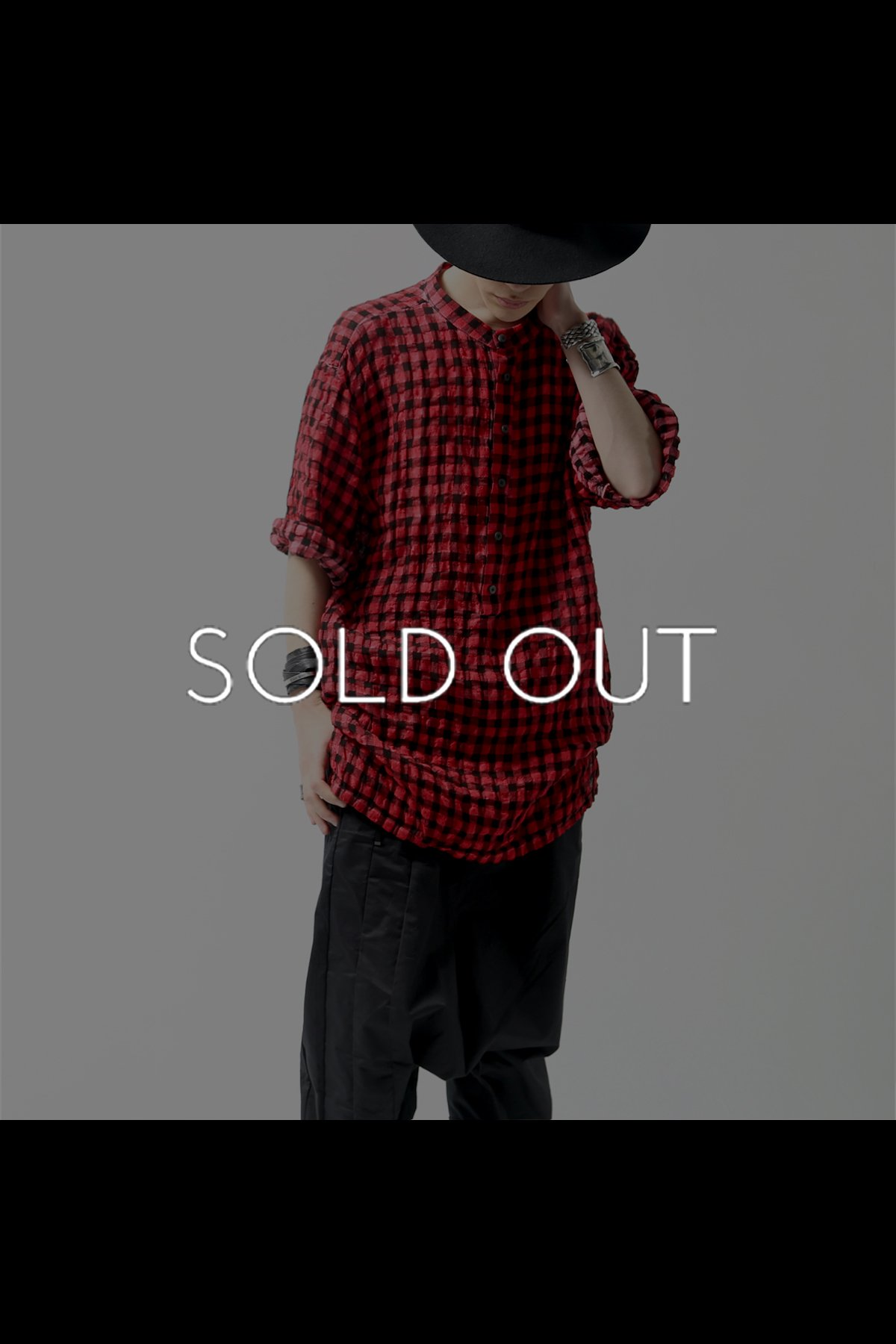 UNISEX CHECKERED SHIRT C13_RED