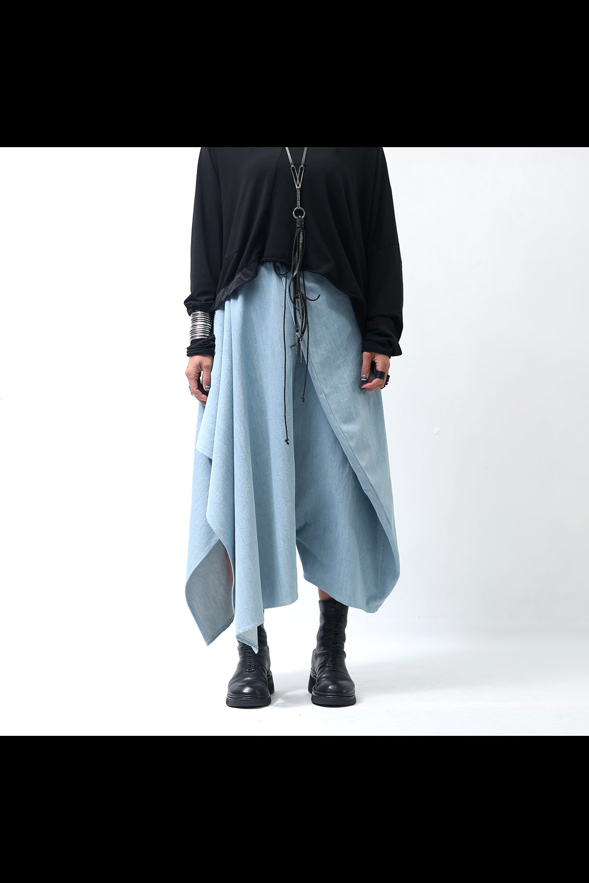 UNISEX DENIM BUBBLE PANTS GABP-44