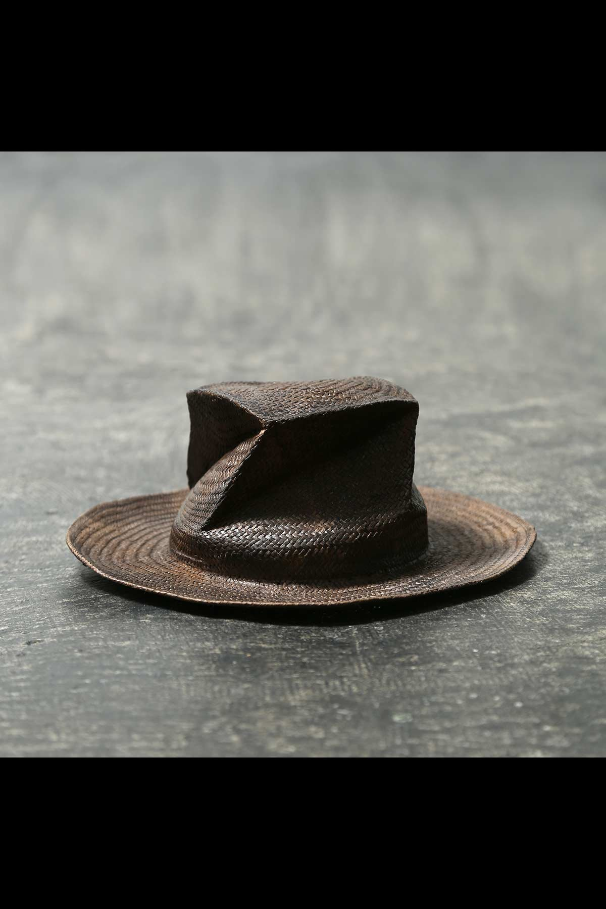 COLLAPSOBLE STRAW HAT MOD29_6cm_BROWN