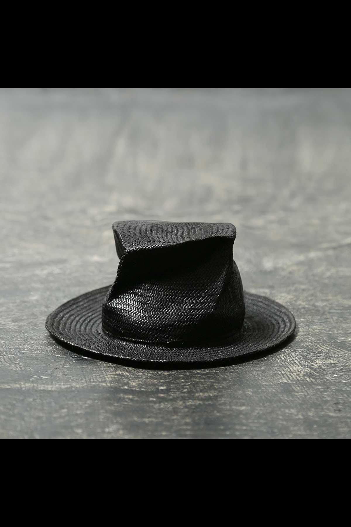 COLLAPSOBLE STRAW HAT MOD29_6cm_BLACK
