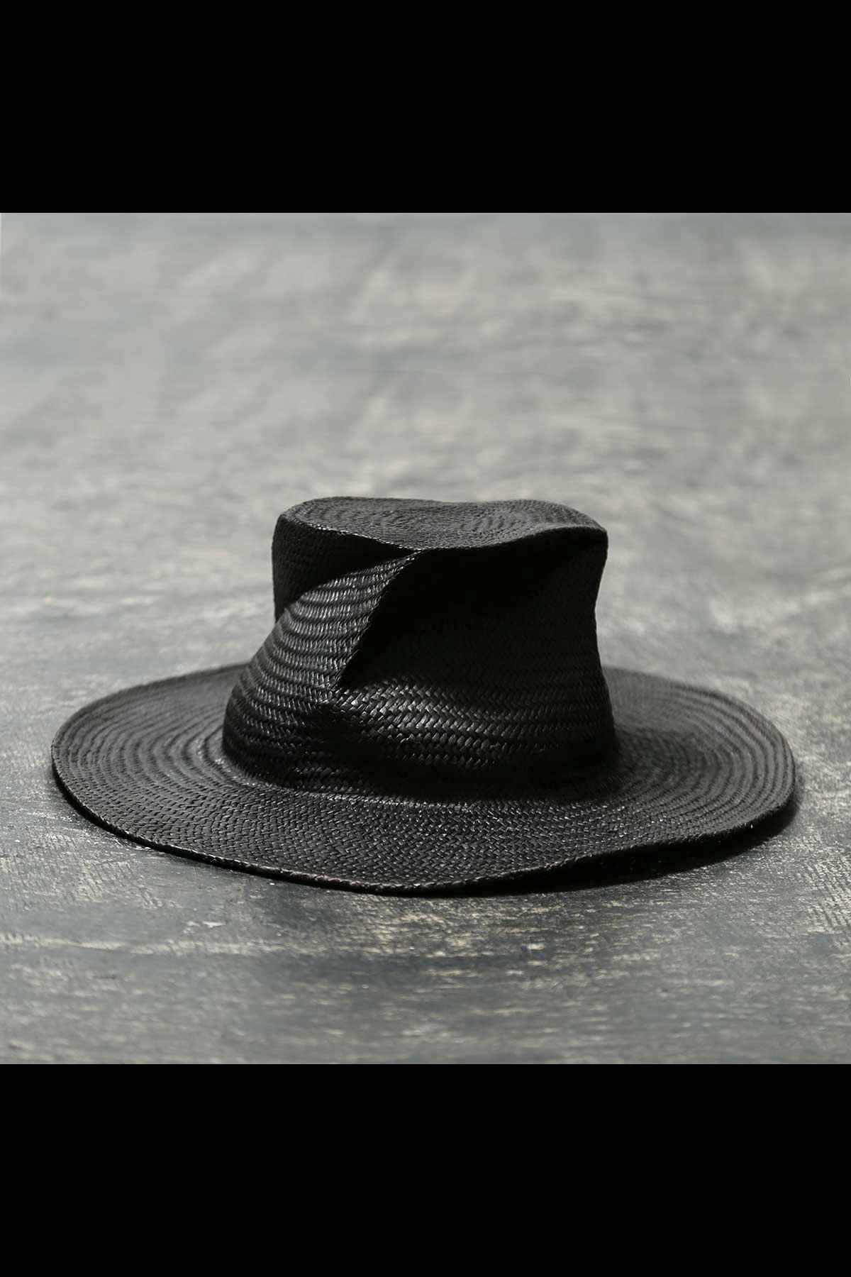 COLLAPSOBLE STRAW HAT MOD29_8cm_BLACK