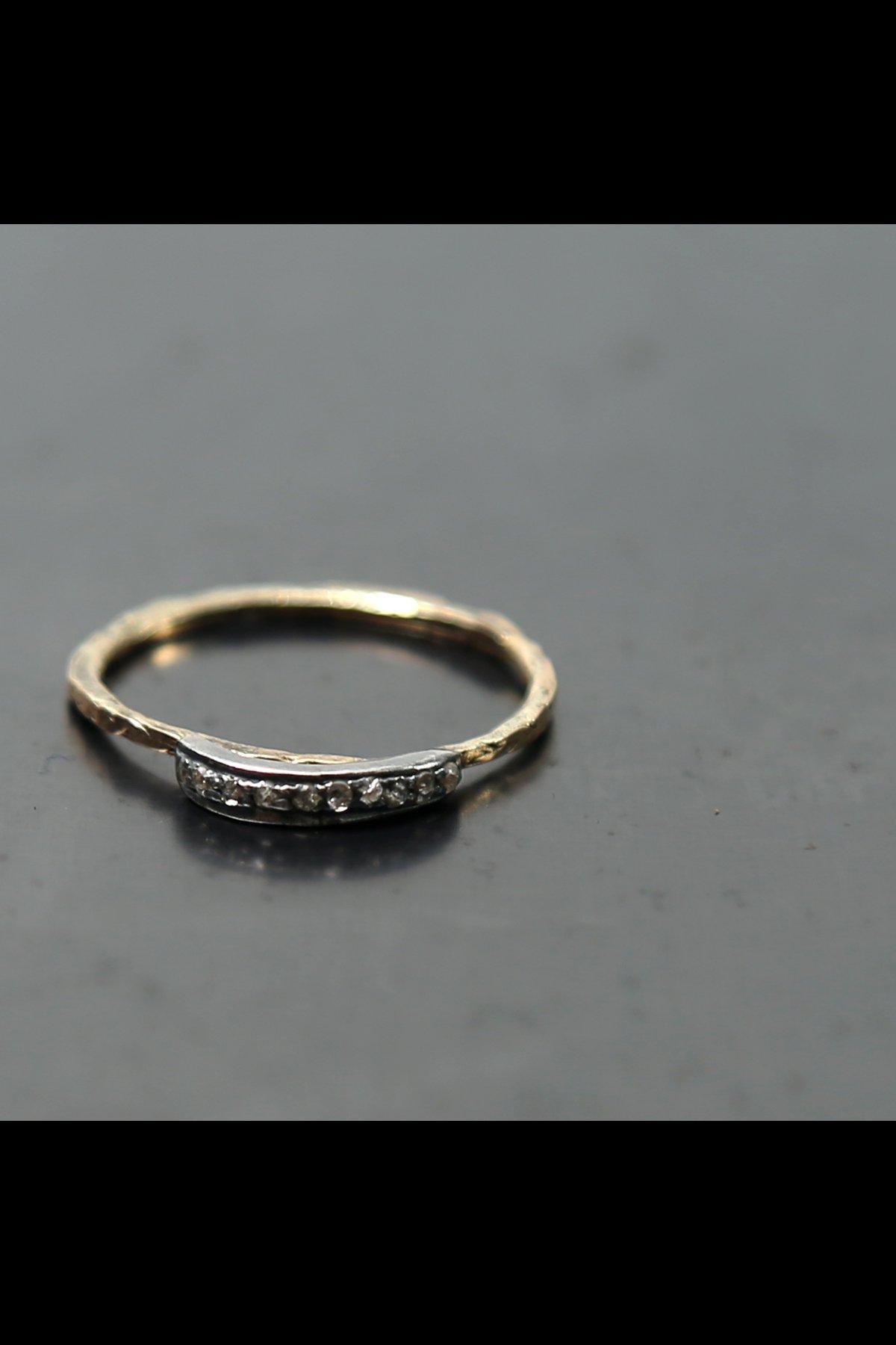 Pebbly Diamond Ring N.8S-OCTR2