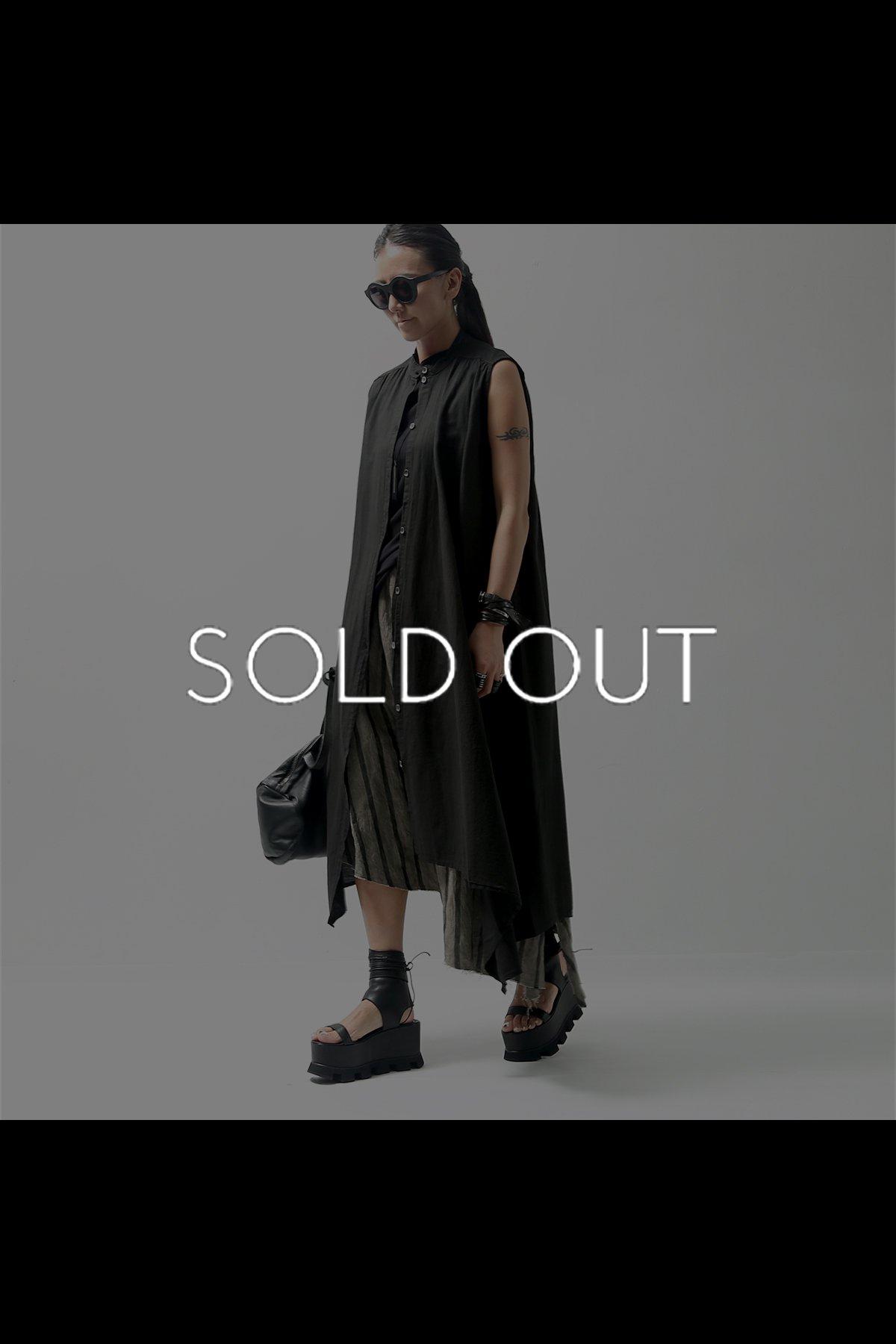 ASYMMETRY LONG SHIRT DRESS  215CL_BLACK