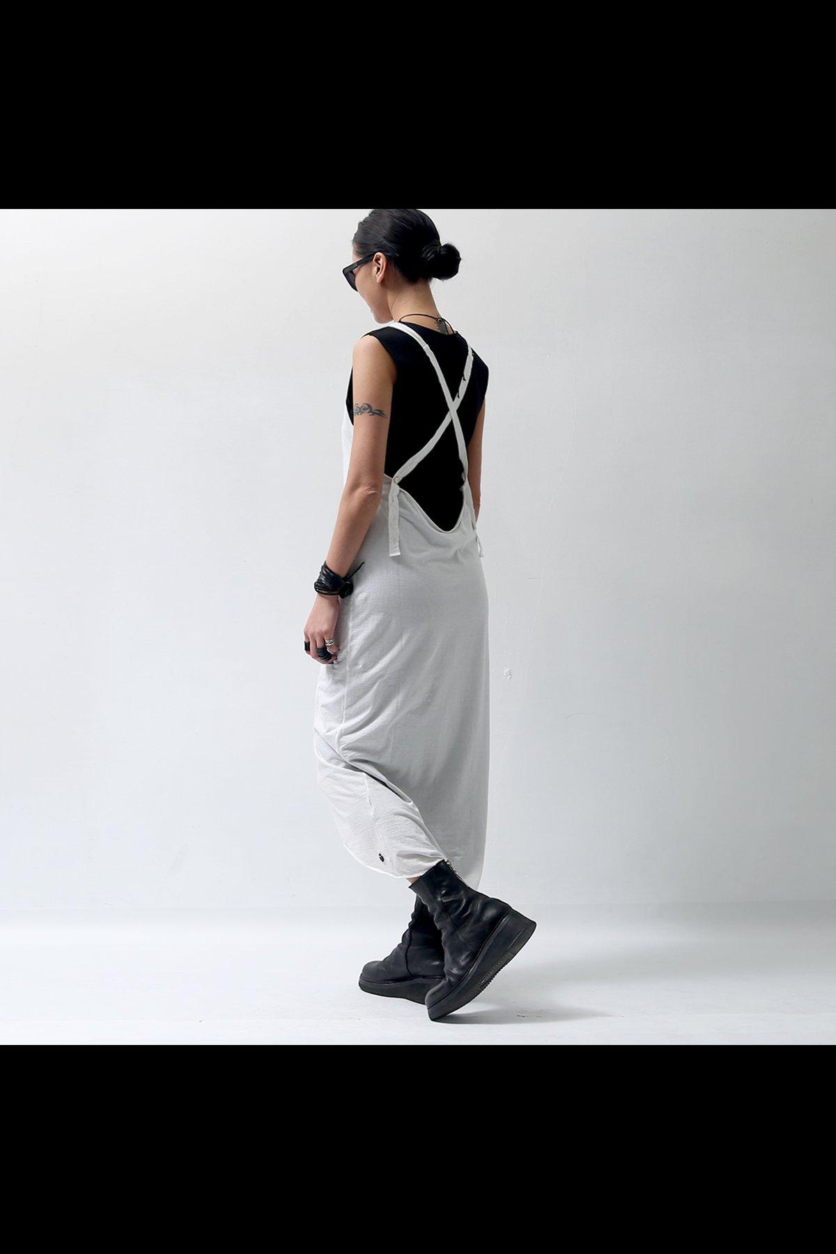 ASYMMETRIC LONG DRESS TS27_WHITE