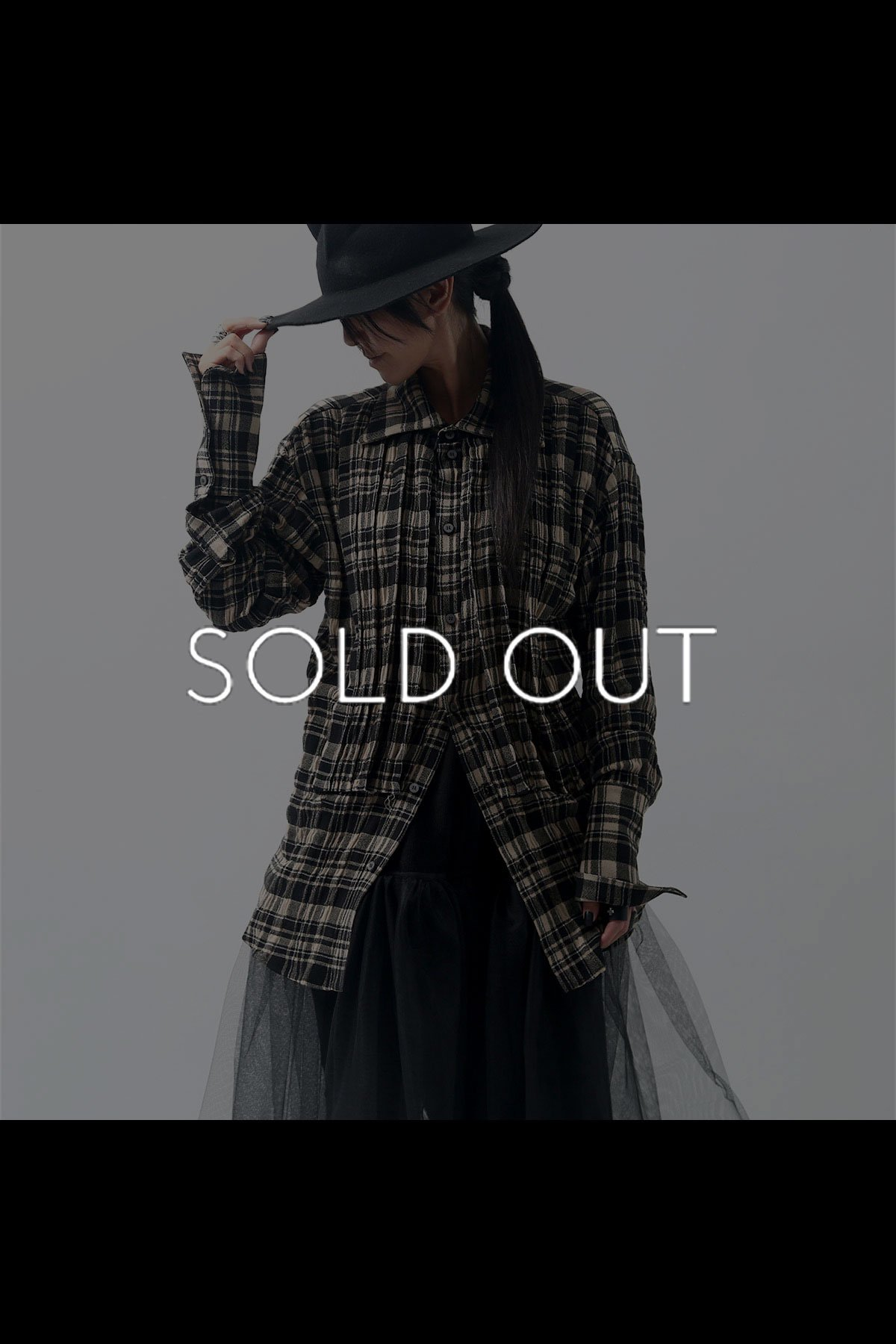 <img class='new_mark_img1' src='https://img.shop-pro.jp/img/new/icons8.gif' style='border:none;display:inline;margin:0px;padding:0px;width:auto;' />CHECKERED SHIRT C09_BEIGE BLACK