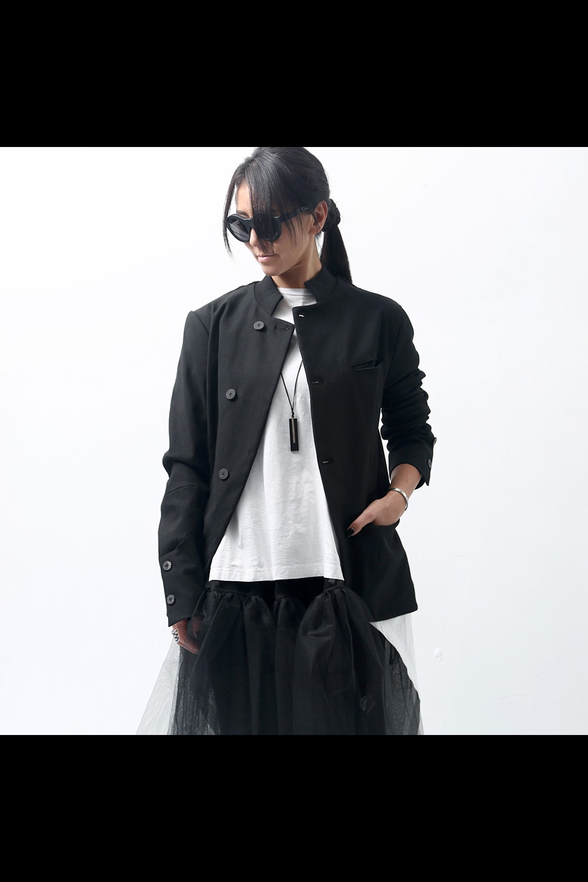 <img class='new_mark_img1' src='https://img.shop-pro.jp/img/new/icons8.gif' style='border:none;display:inline;margin:0px;padding:0px;width:auto;' />STAND COLLAR STRETCH JACKET J25*1_BLACK