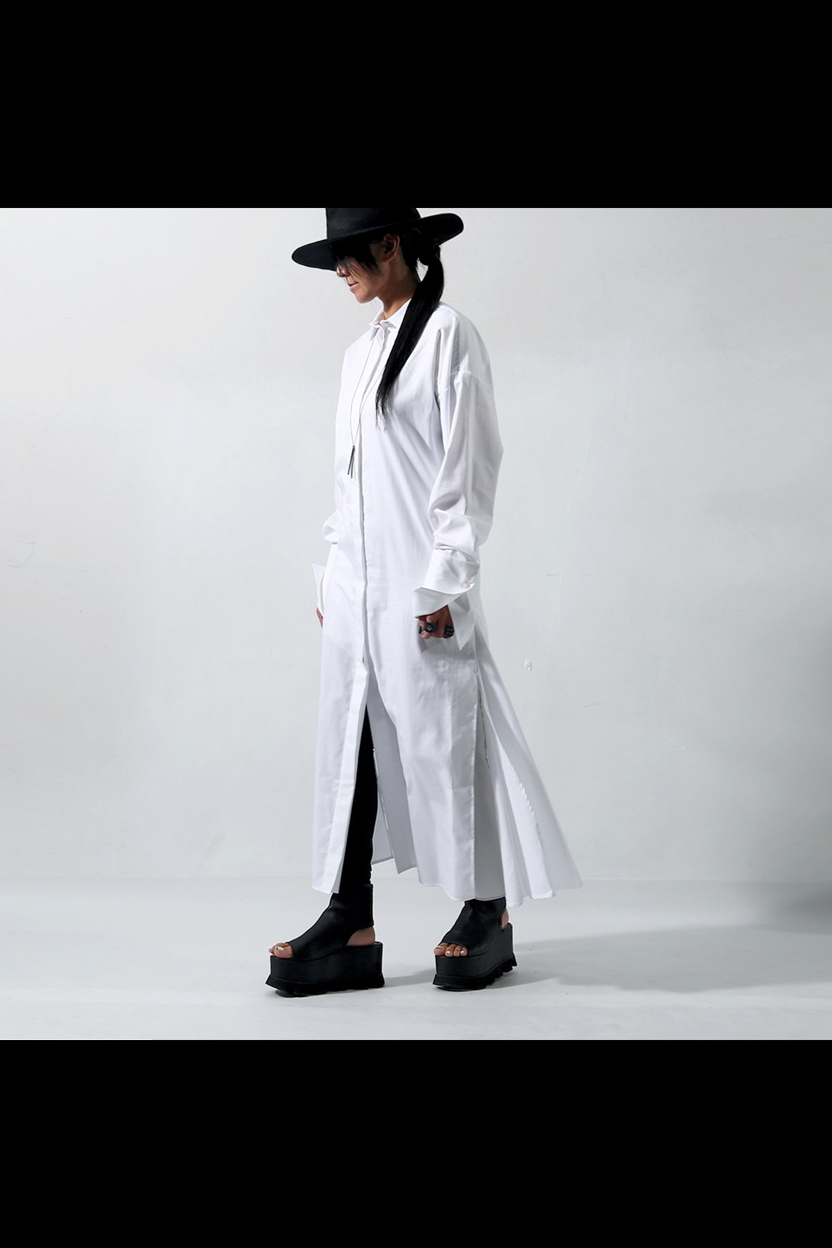 LONG SHIRTS DRESS C53_WHITE