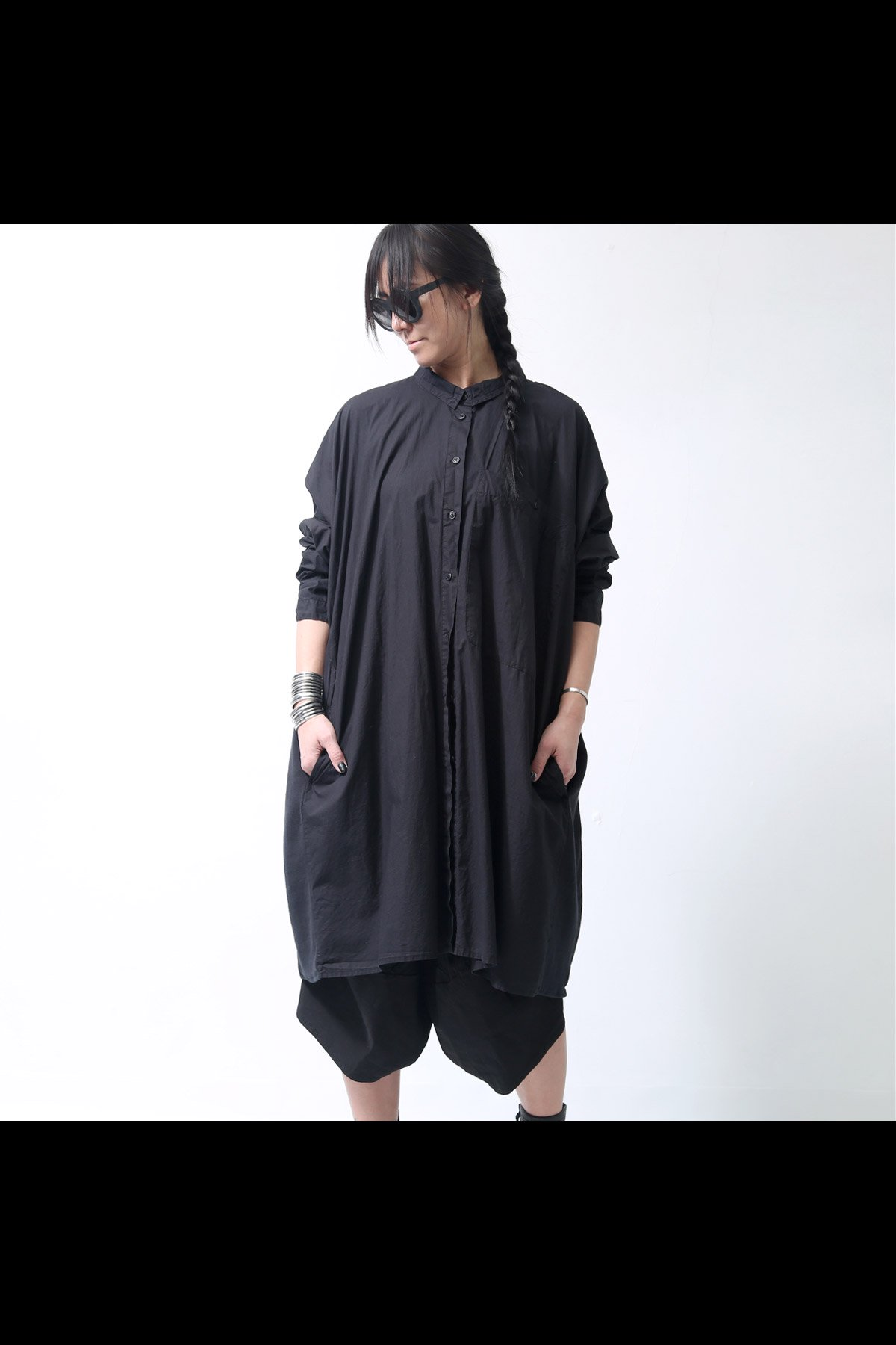 RUNDHOLZ_OVERSIZED LONG SHIRT