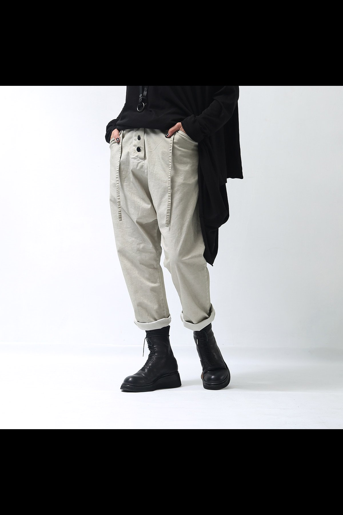 studio b3_UNISEX CROPPED PANTS SB794_SMOKY BEIGE