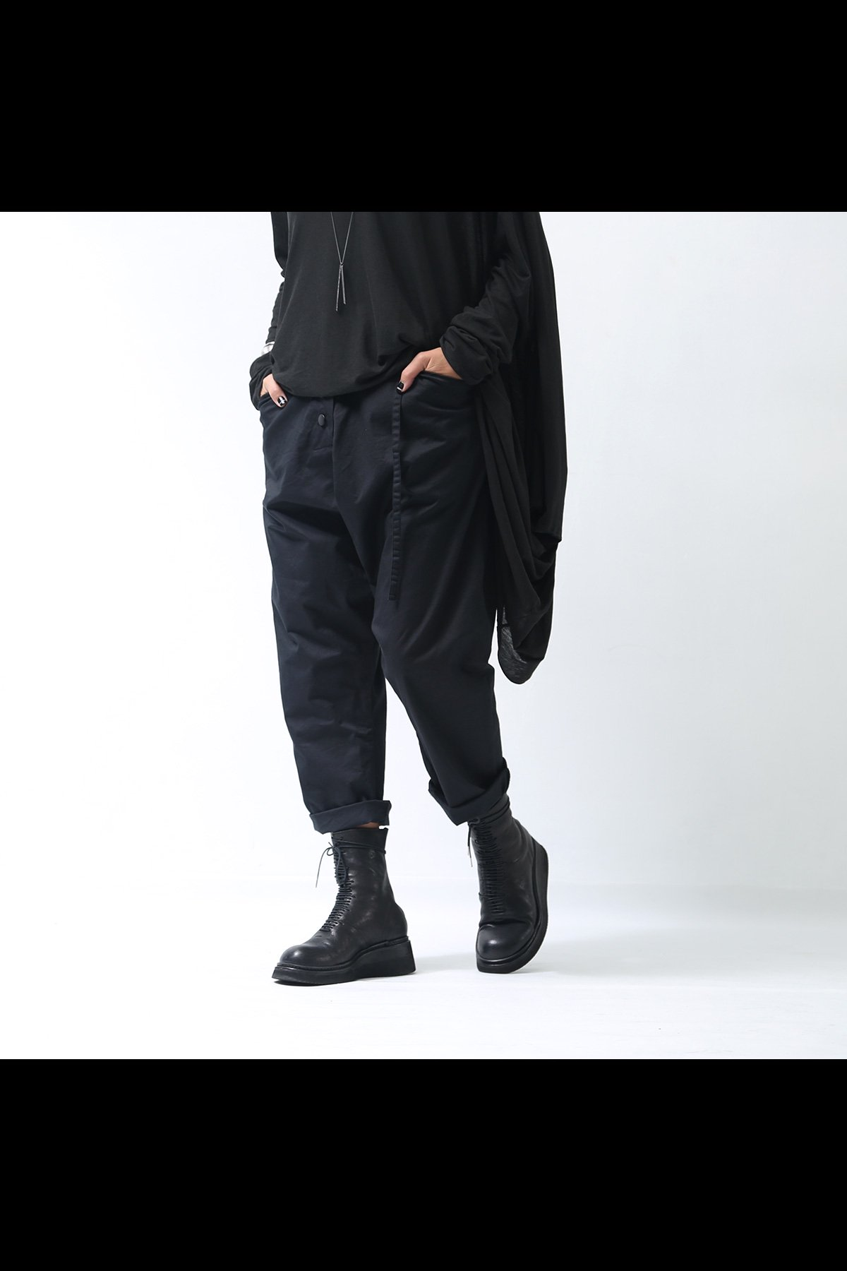 UNISEX CROPPED PANTS SB794_BLACK