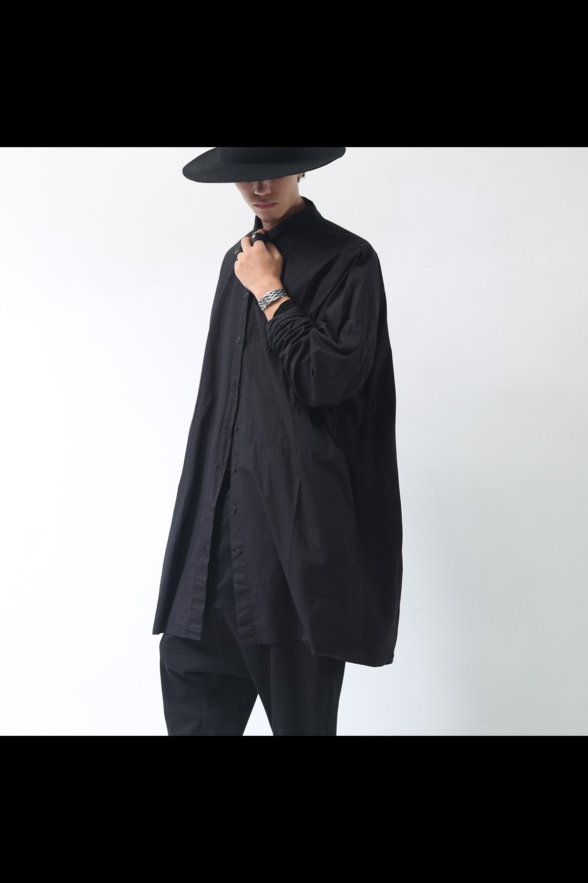 OVERSIZED LONG SHIRT 336 0902_BLACK